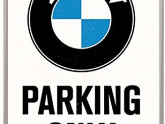 Mini VW Bus Outpost - Bmw parking only signs
