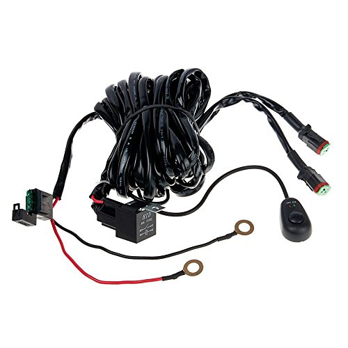 51BKjrilssL dt connector 3m 270w car led light bar wiring loom harness kit (2,Easy Ke Light Wiring