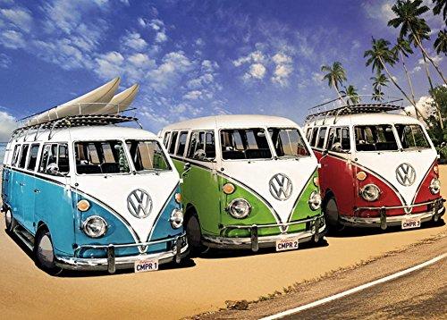 VW CAMPER POSTER TRANSPORTER CLASSIC CAR VEHICLE ART PICTURE PRINT LARGE  HUGE
