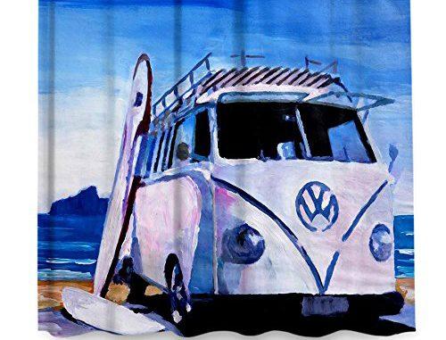 DiaNoche Designs Shower Curtains By Markus Bleichner The White VW Bus Bathroom
