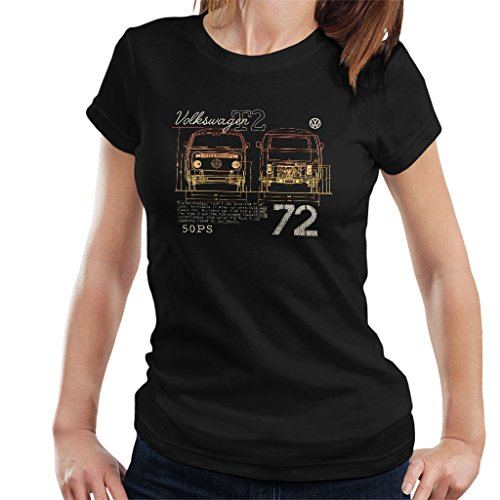 Official Volkswagen T2 Mini Van 72 Women's T-Shirt | VW Bus Outpost